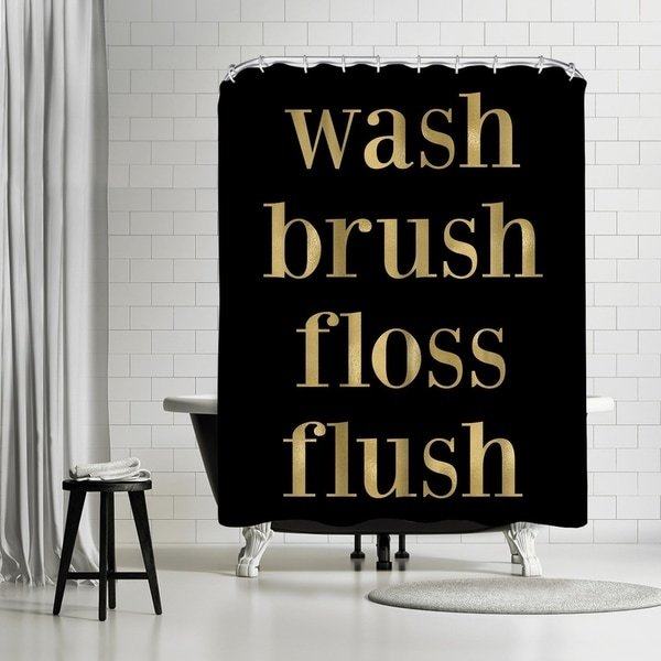 Americanflat X27Wash Brush Floss Gold On Blackx27