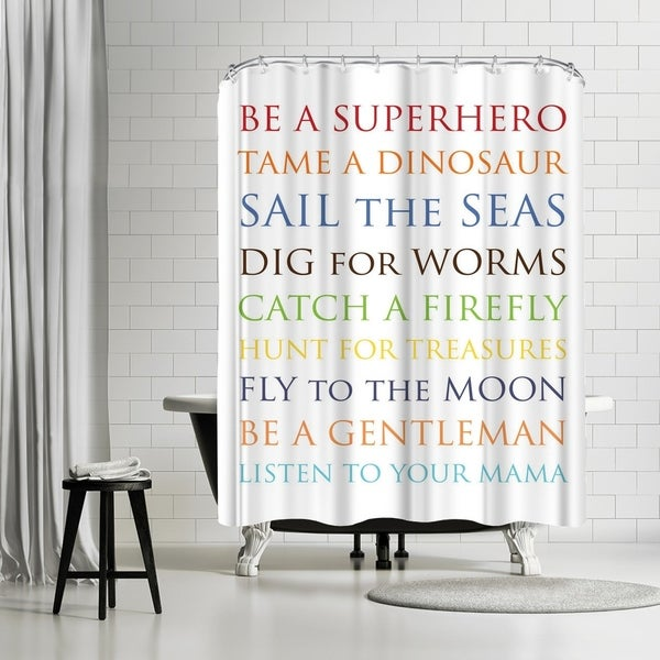 Shop Americanflat Be A Superhero Shower Curtain