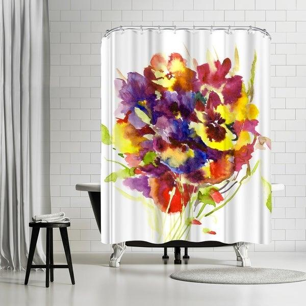 Shop Americanflat Pansies Shower Curtain