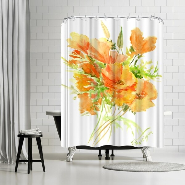 Shop Americanflat California Poppies Shower Curtain
