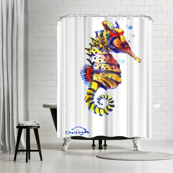 Shop Americanflat Seahorse Shower Curtain