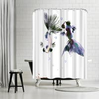 Americanflat 'Panda Goldfish SQUARE' Shower Curtain