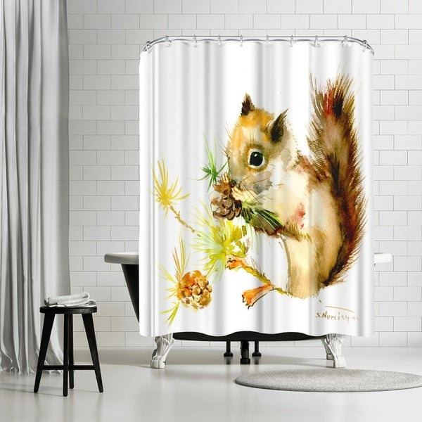 Shop Americanflat Baby Squirrel Shower Curtain