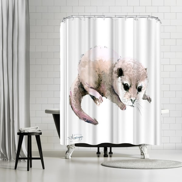 Shop Americanflat Baby Otter Shower Curtain
