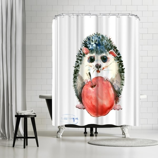 Shop Americanflat Baby Hedgehog Shower Curtain