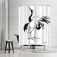 Americanflat 'Japanese Cranes' Shower Curtain
