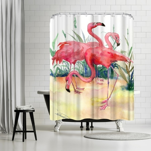 Shop Americanflat Flamingos Shower Curtain