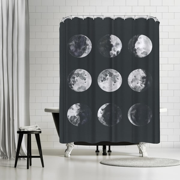 Americanflat 'Moon Phases Watercolor Ii' Shower Curtain