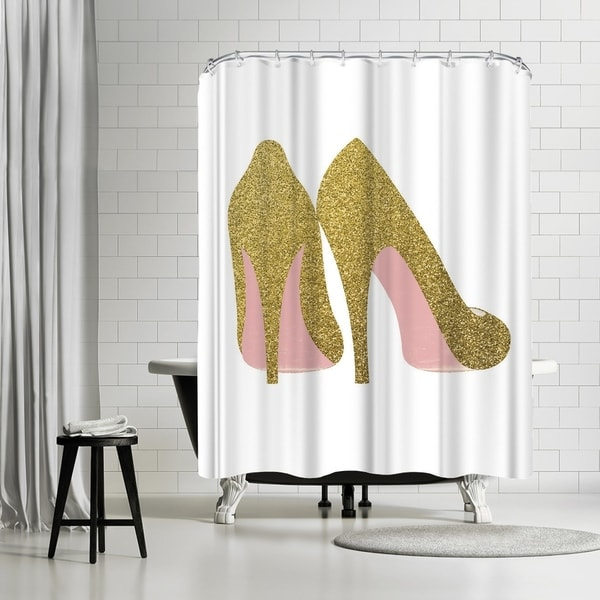 Americanflat Gold Shoes Shower Curtain