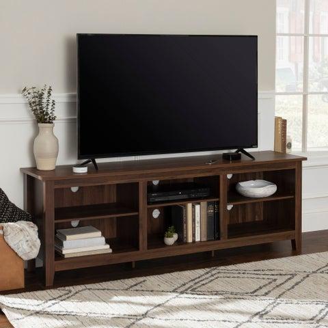 70 Inch Rustic Farmhouse Wood TV Storage Console