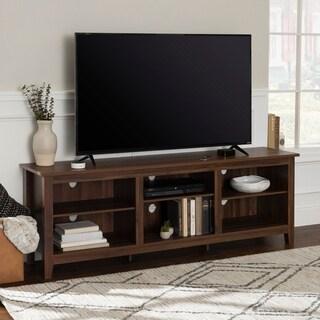 70 Inch Rustic Farmhouse Wood TV Storage Console Rustic Entertainment Center C47