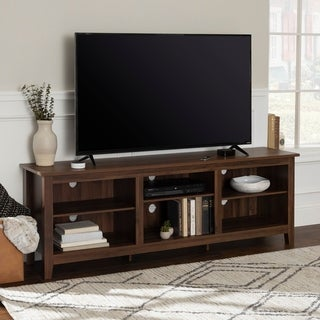 70 Inch Rustic Farmhouse Wood TV Storage Console