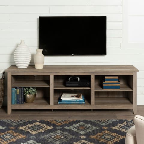 Rustic Farmhouse 70-inch Wood TV Media Stand Console