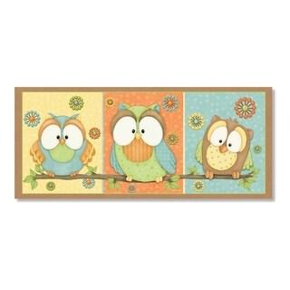 Who's Hoo Owl Canvas Wall Art Set - Multi-color