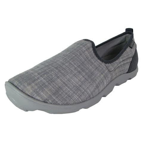 Crocs Womens Busy Day Chambray Skimmer Loafer Shoes Charcoal/Light Grey