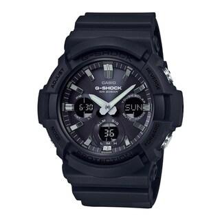 Casio G-Shock GAS100B-1A Tough Solar Resin/Aluminum Case Men's Watch (Black)