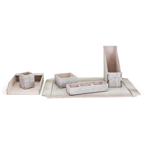 Beth Kushnick Grey Desk Set in Gift Boxes (Set of 6)