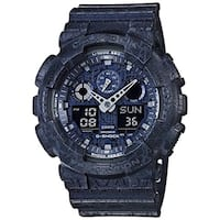 Casio G-Shock GA-100 Cracked Pattern Men's Watch (Blue)