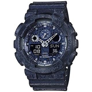 Casio G-Shock GA-100 Cracked Pattern Men's Watch (Blue)