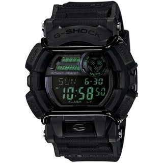 Casio G-Shock GD-400 Military Black Luxury Men's Watch - Black w/ Dark Green