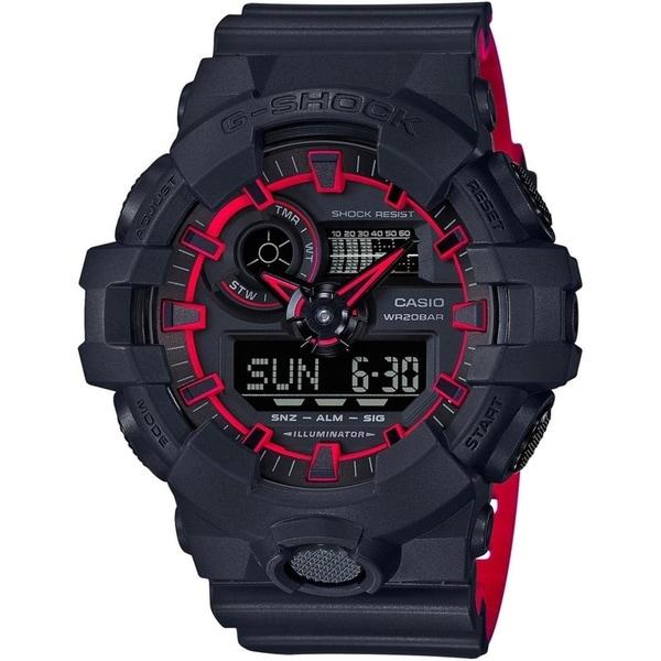 Casio G-Shock 53.4mm Resin Men's Watch (Matte Black/Red)