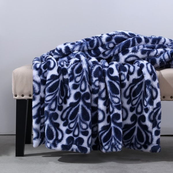 Shop Berkshire Blanket Exra Fluffy Damask Throw Free