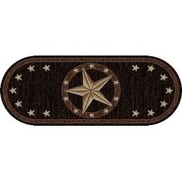 Shop Western Texas Star Black Oval Area Rug Free