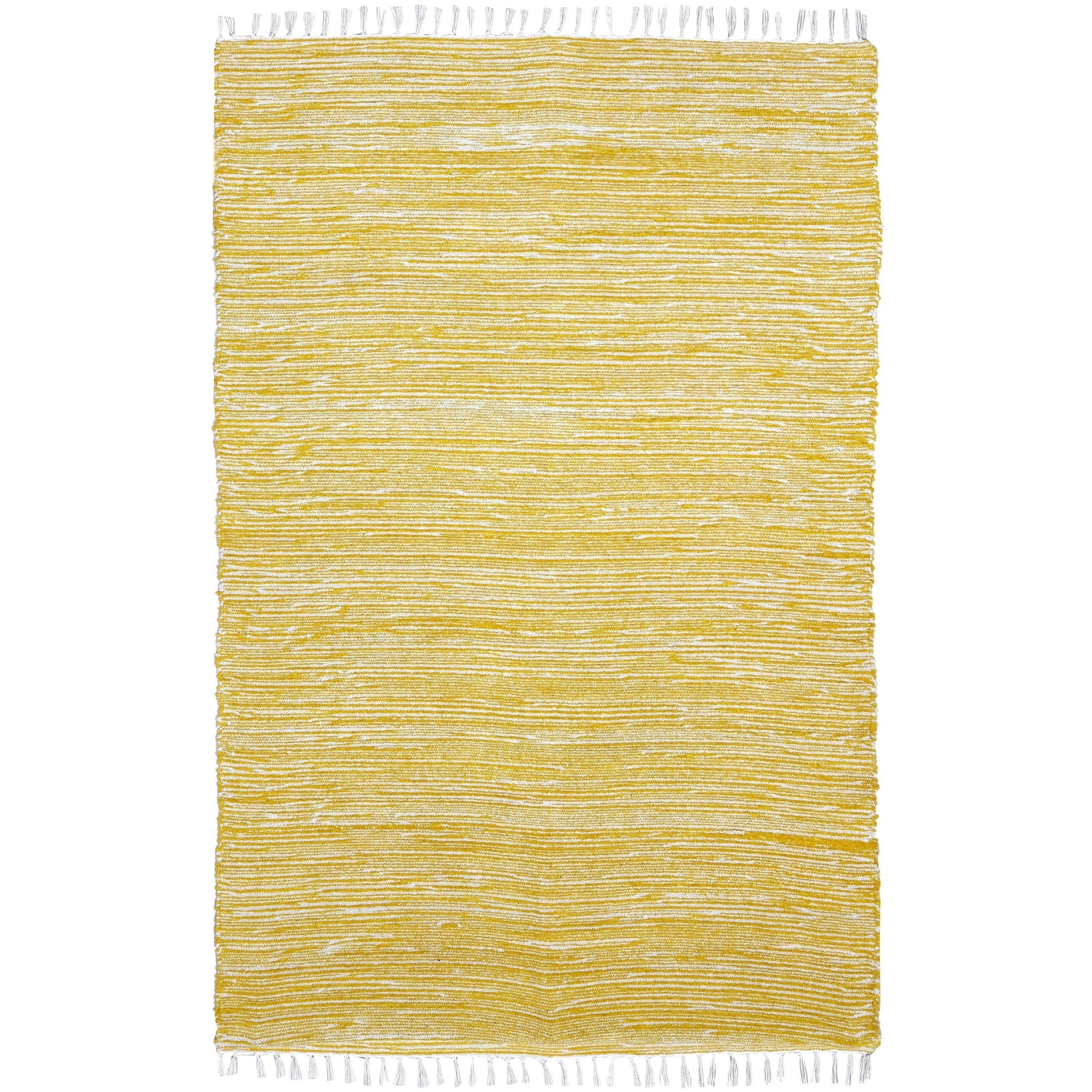 Yellow Complex Chenille Flat Weave Rug - 19 x 210 (Yellow - 19 x 210)
