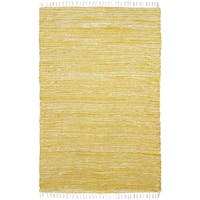 """Yellow Complex Chenille Flat Weave Rug - 1'9"""" x 2'10"""""""