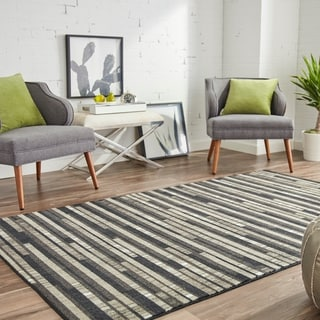 Mohawk Home Prismatic Stacked Tile Area Rug (5x8) (5 x 8 - Charcoal)