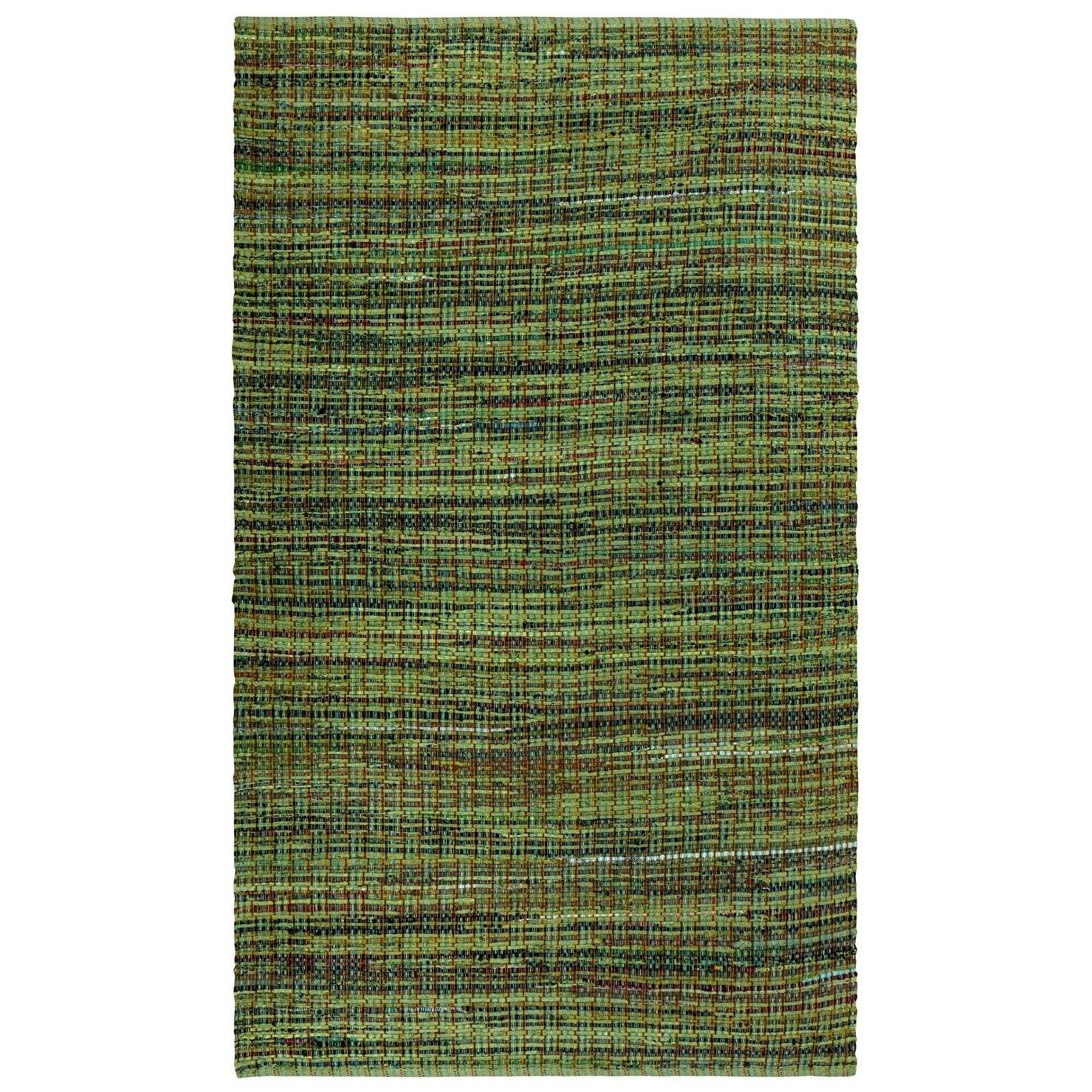 Complex Green 4x6 Woven Cotton Rug - 4 x 6 (Green - 4 x 6)