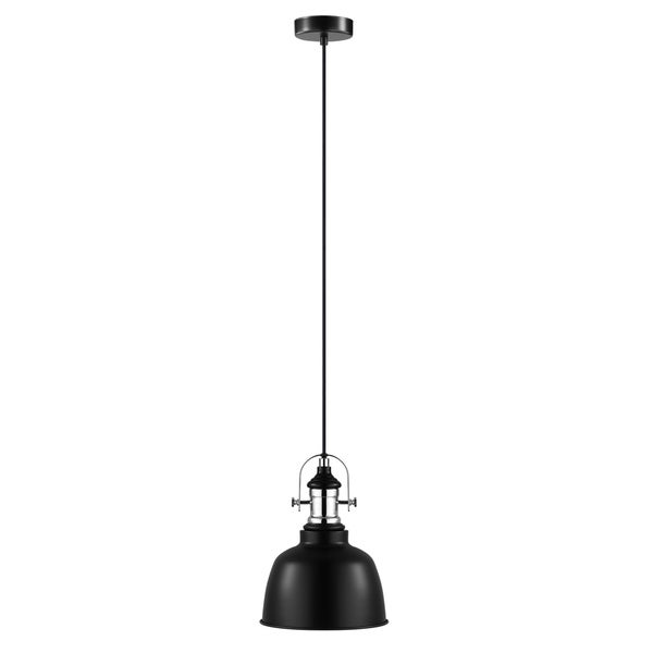 Eglo Gilwell 1-Light Pendant with Black Shade