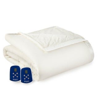 Shavel Quilted Micro Flannel® to Ultra Velvet® Electric Heated Blanket