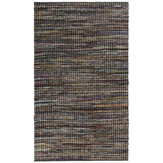 Complex Grey Woven 4x6' Cotton Rug - 4' x 6'