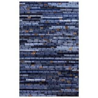 Blue Jeans Repurposed Denim 5x8' Rug - 5' x 8'