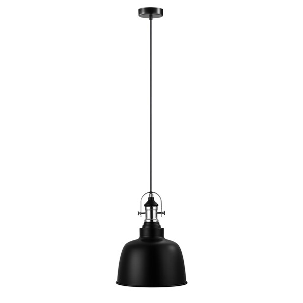 Eglo Gilwell 1-Light Pendant with Black Shade