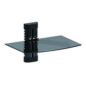 Emerald DVD Player Shelf Wall Mount with Tempered Glass and Aluminum (7002)