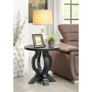 Somette Orchard Black Rub Orchard Park Accent Table