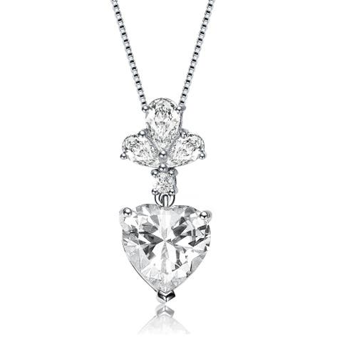 Collette Z Sterling Silver Heart Shaped Necklace