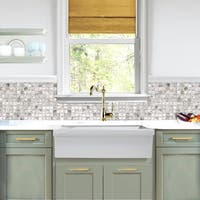 Highpoint Collection Fireclay Reversible Double Lip Fireclay Farmhouse Sink
