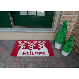 Reindeer Welcome Non Slip Coir Doormat
