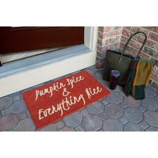 Pumpkin Spice Non Slip Coir Doormat