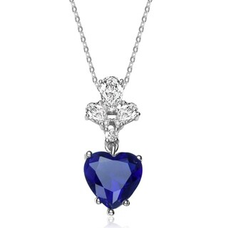 Collette Z Sterling Silver Heart Shaped Zirconia Necklace