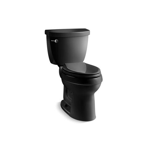 Kohler K-3589 Cimarron Comfort Height Two-Piece Elongated 1.6 GPF Toilet With AquaPiston Flush Technology, Less Seat
