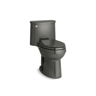 Kohler K-3946 Adair Comfort Height One-Piece Elongated 1.28 GPF Toilet With AquaPiston Flushing Technology And Seat (Option: thunder grey)