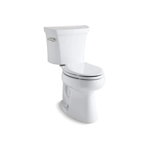 Kohler K-3979 Highline Comfort Height Two-Piece Elongated 1.6 GPF Toilet With Class Five Flush Technology, Less Seat