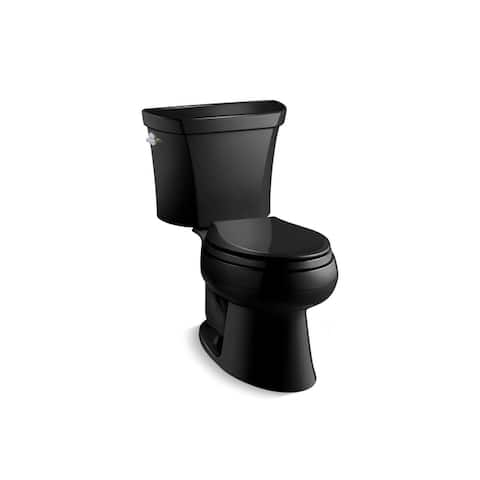 Kohler K-3988 Wellworth Two-Piece Elongated Dual-Flush Toilet With Left-Hand Trip Lever, Less Seat