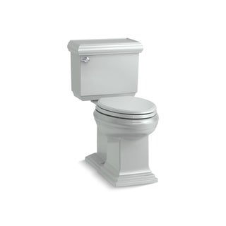 Kohler K-6999 Memoirs Classic Comfort Height Two-Piece Elongated 1.28 GPF Toilet With AquaPiston Flush Technology, Less Seat