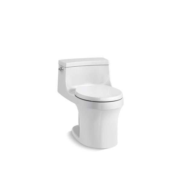 Kohler K-4007 San Souci One-Piece Round-Front 1.28 GPF Toilet with AquaPiston Flushing Technology and Seat