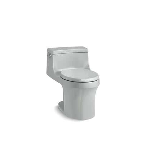 Kohler K-4007 San Souci One-Piece Round-Front 1.28 GPF Toilet With AquaPiston Flushing Technology And Seat